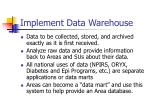 implement data warehouse