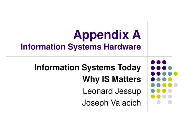 appendix a information systems hardware n.
