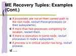 me recovery tuples examples cont