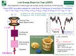 low energy beam ion trap lebit