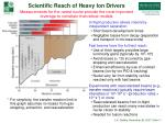 scientific reach of heavy ion drivers
