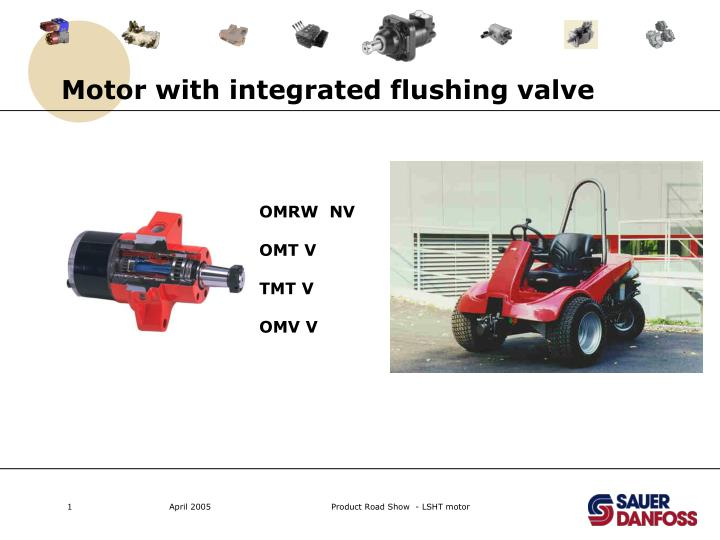 motor with integrated flushing valve n.