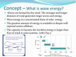 concept what is wave energy