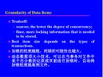granularity of data items1