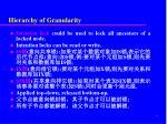 hierarchy of granularity1