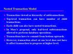 nested transaction model