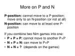 more on p and n