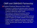omr and omhsas partnership