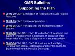 omr bulletins supporting the plan