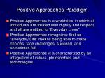 positive approaches paradigm