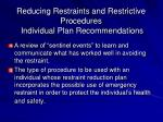 reducing restraints and restrictive procedures individual plan recommendations2