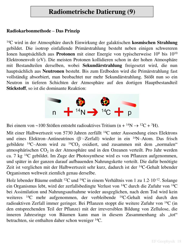 Radiometrische Datierungsmethoden ppt