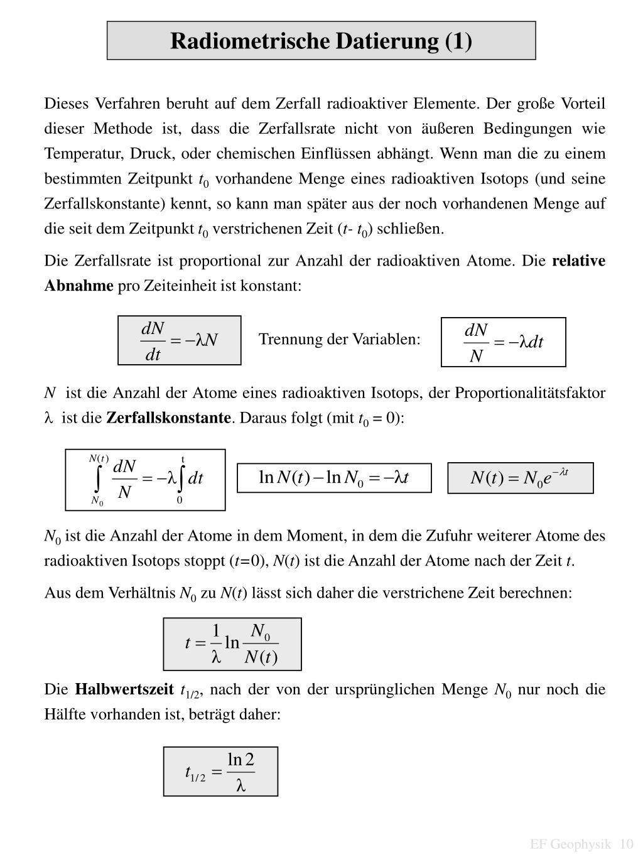 Radiometrische Datierung der Temperatur