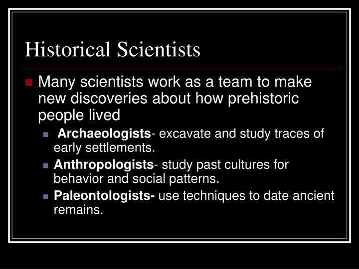 Historical Scientists