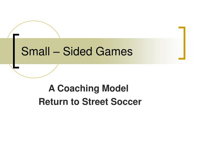 small sided games n.