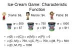 ice cream game characteristic function