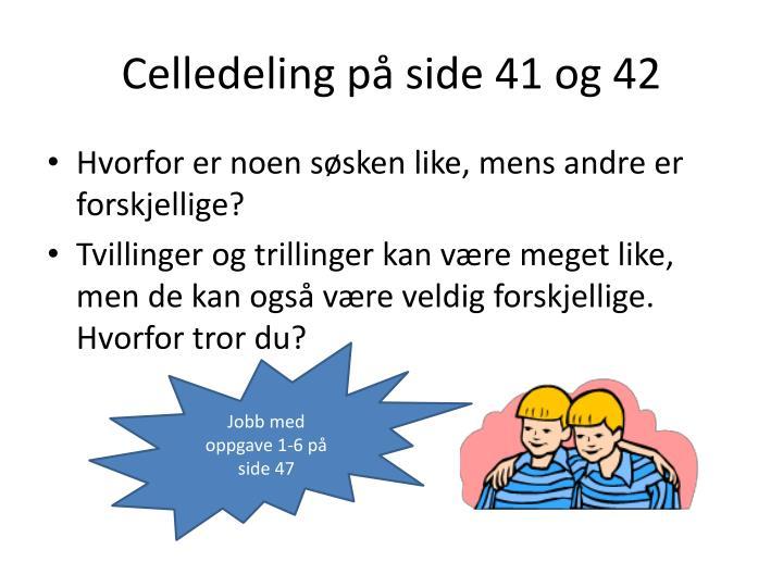 Celledeling på side 41 og 42