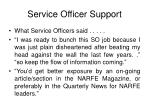 service officer support