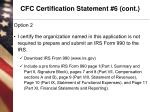 cfc certification statement 6 cont