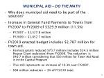 municipal aid do the math
