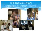 york technical college radiologic technology program