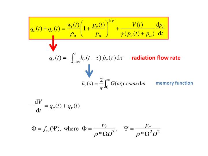 radiation flow rate