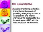 task group objective