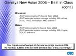 genisys new asian 2006 best in class cont