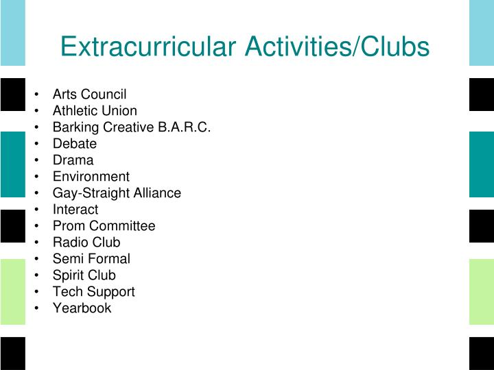 Extracurricular Activities/Clubs