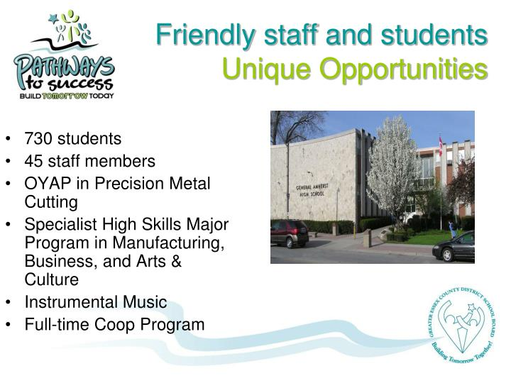 Friendly staff and students