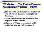 epi content the florida educator accomplished practices feap
