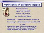 verification of bachelor s degree