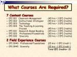 what courses are required