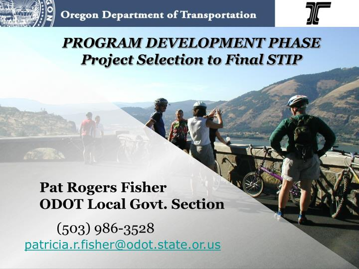 program development phase project selection to final stip n.