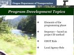 program development topics