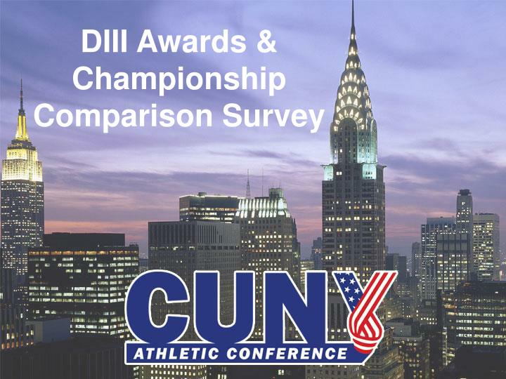 diii awards championship comparison survey n.