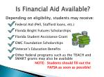 is financial aid available