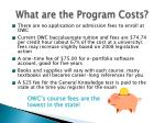 what are the program costs