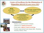 center of excellence for the elimination of disparities reach us 2007 2012 cdc