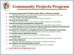 community projects program