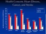 health concern heart disease cancer and stroke