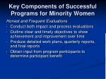 key components of successful programs for minority women3