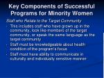 key components of successful programs for minority women5