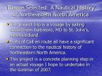 theme selected a nautical history of northeastern north america