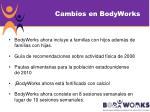 cambios en bodyworks