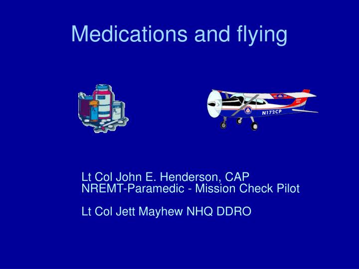 medications and flying n.
