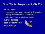 side effects of aspirin and nsaid s