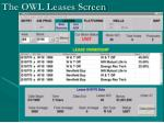 the owl leases screen