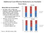 additional cost effective reductions are available from egus