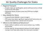 air quality challenges for states
